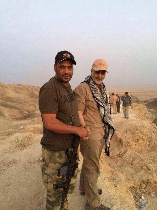 Photo of Commander Qasem Soleimani in Amerli, which was under siege from ISIS militants for over six weeks
