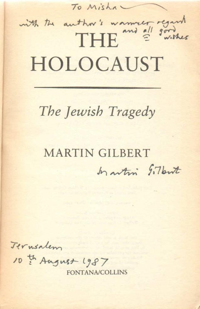 Gilbert The Holocaust