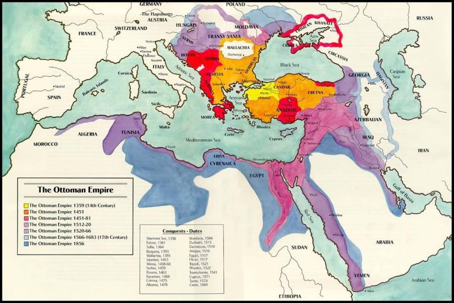 Расширение Оттоманской империи 1359–1856