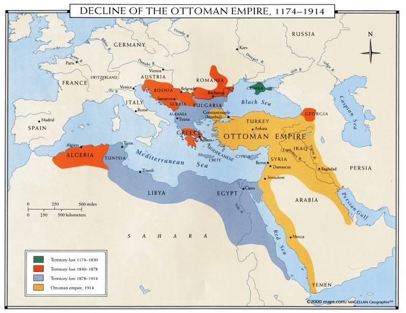 Сокращение Оттоманской Империи