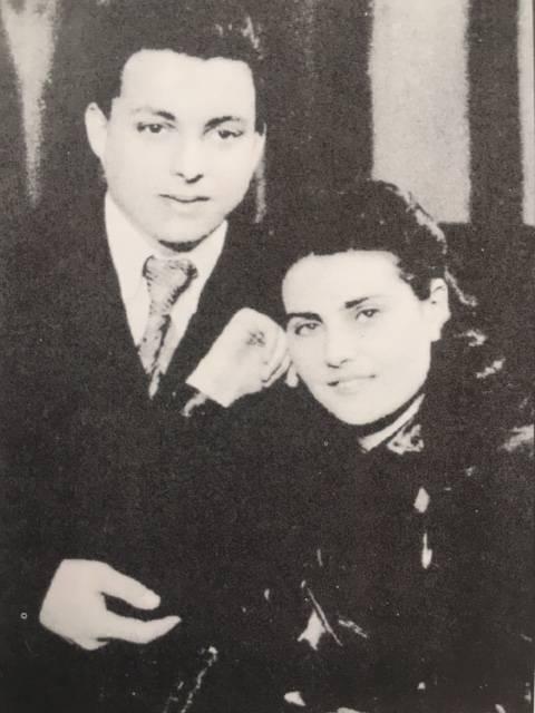 Молодожены Феликс и Наташа Кривины, Киев, 1951 г.
