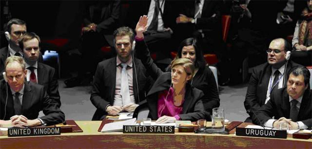 Саманта Пауэр, посол США в ООН, впервые воздерживается при голосовании резолюции против поселенческой политики Израиля — исторический поворотный момент. Источник: DPA