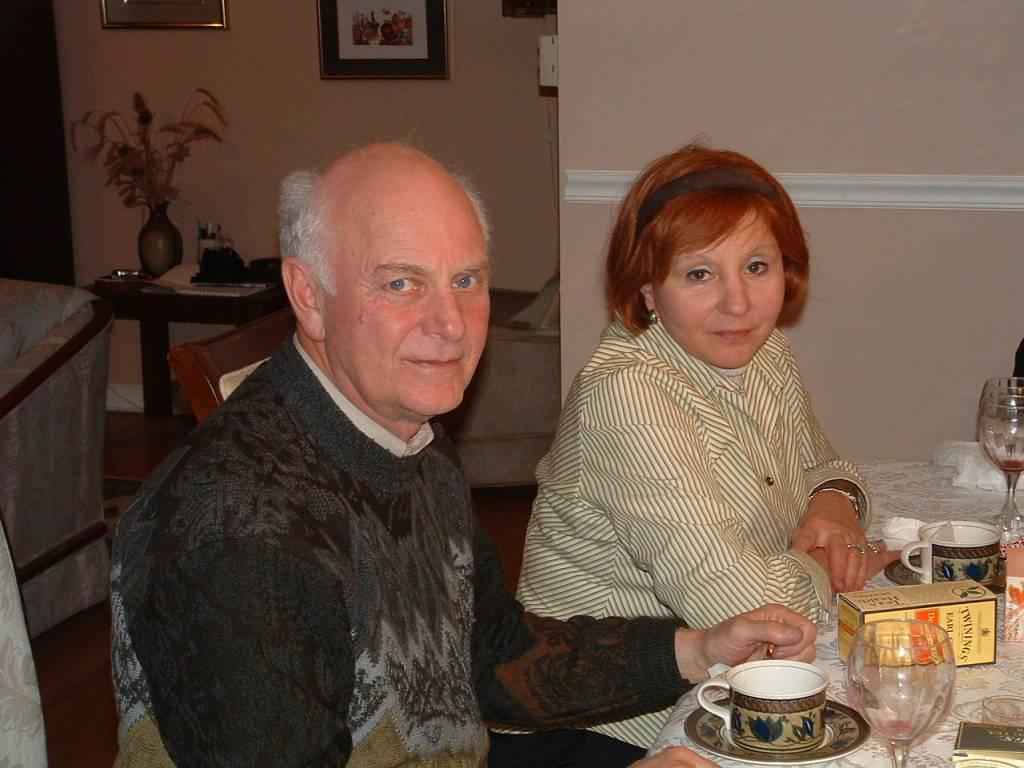 2004, февраль, Нью-Джерси, А.Мессерер с женой Наташей