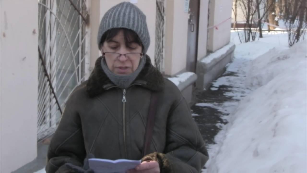 Елена Висенс читает письмо Двойры Медалье Лазарю Кагановичу (из фильма Олега Дормана)