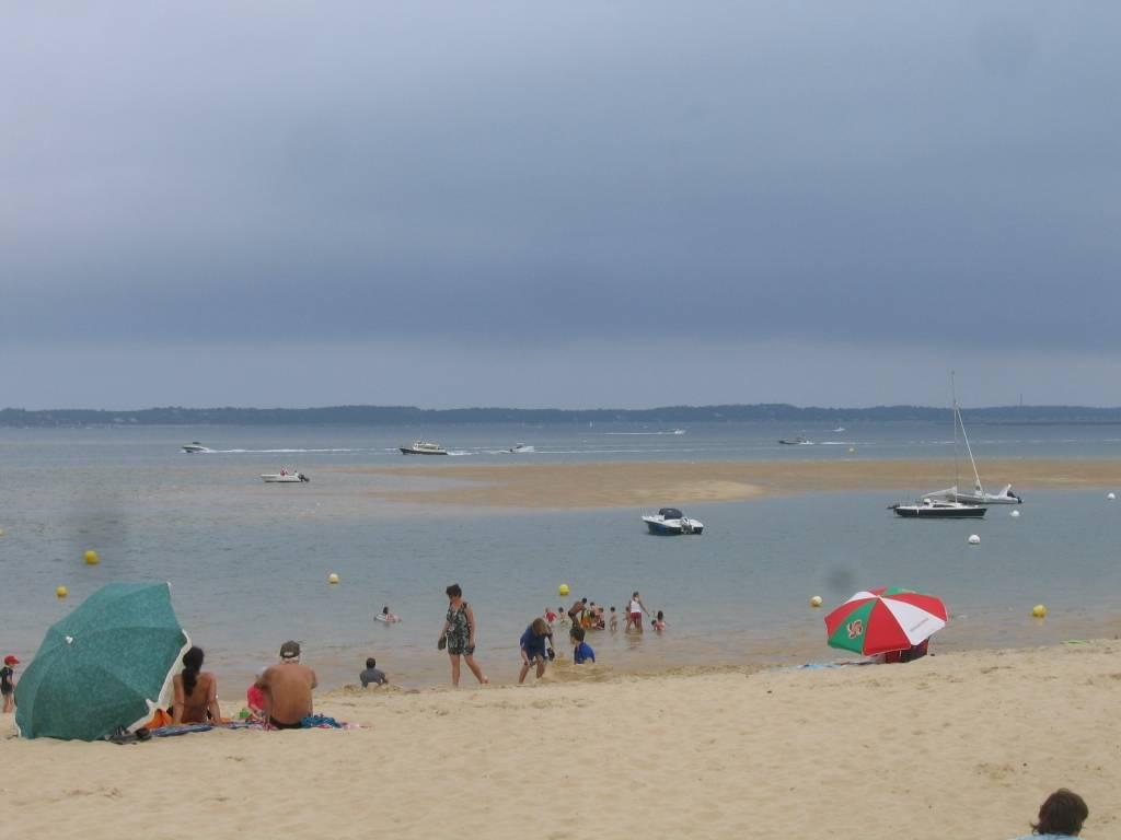 Пляж в Les Moulleau. Отлив…