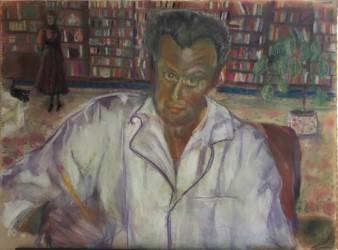 Портрет Ильи Суслова, масло 1987, кисти Нэнси Суслов