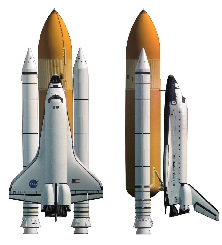 Рис 1. Схема космического челнока в стартовой комплектации