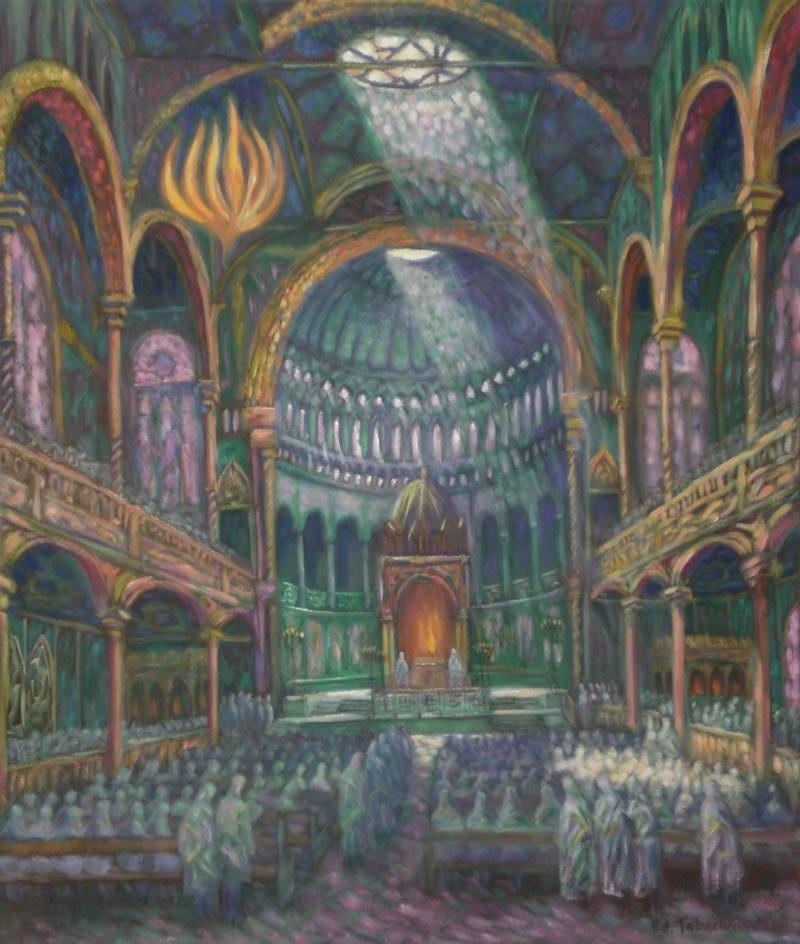 Большая Берлинская Синагога (взорвана фашистами), реконструкция