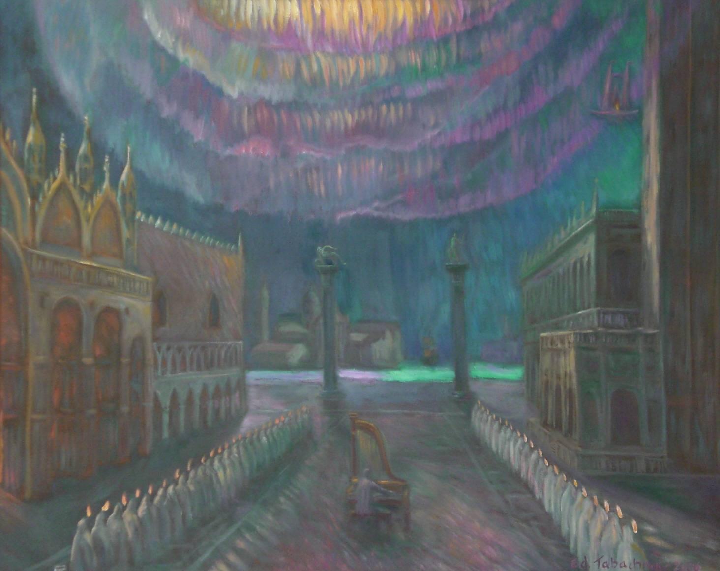 Полярное сияние над площаью Св. Марка