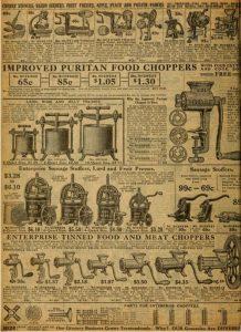 Да тут не только мясорубки, тут чего только нет: и удалители косточек из вишни, и яблокочистки, и соковыжималки, и терки...