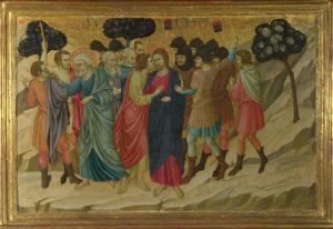 Уголино ди Нерио «Предательство Иуды и арест Христа» (14 век, Сиена)