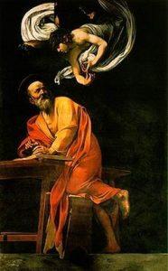 Караваджо. Св.Матфей и ангел.
