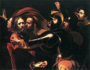 Караваджо (16 век). Поцелуй Иуды