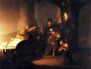 Рембрант. Иуда возвращает первосвященникам 30 серебренников