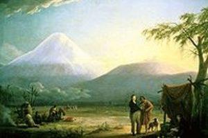 Гумбольд и Бонплан на фоне Чимборасо