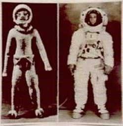Астронавты Земли (справа) и Нибиру (слева)