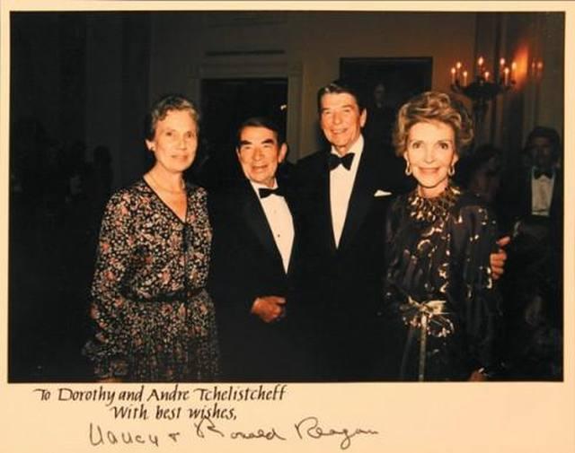 Андрей и Дороти Челищевы были частыми гостями Рональда и Нэнси Рейган