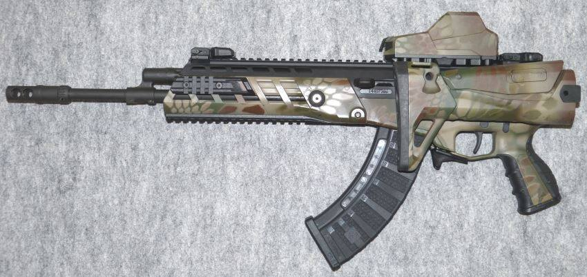 АК-Альфа (AK-Alfa) со сложенным прикладом