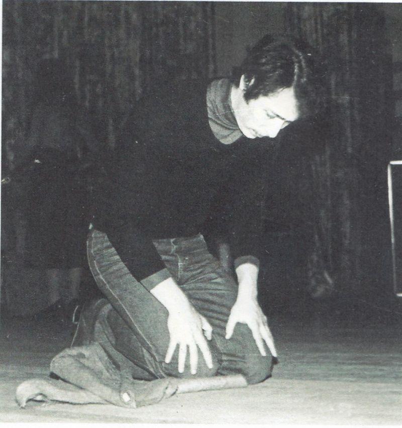 Валерий Савинкин на репетиции студенческого театра. Одесса