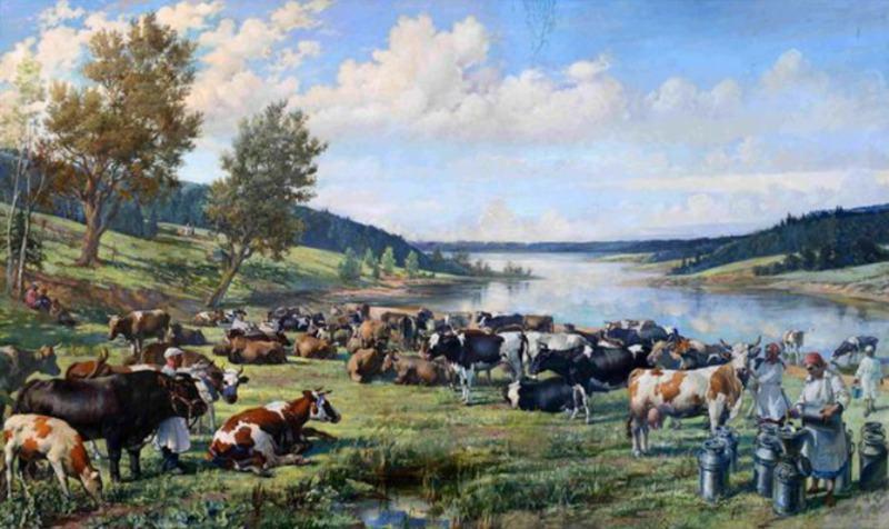 В. Яковлев. Колхозное стадо