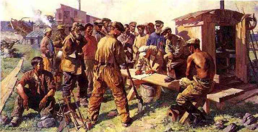 В. Яковлев. Старатели пишут письмо И.В. Сталину