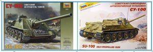 СУ-100 Сборные модели самоходной артеллирийской установки