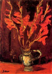 Красные гладиолусы. 1919