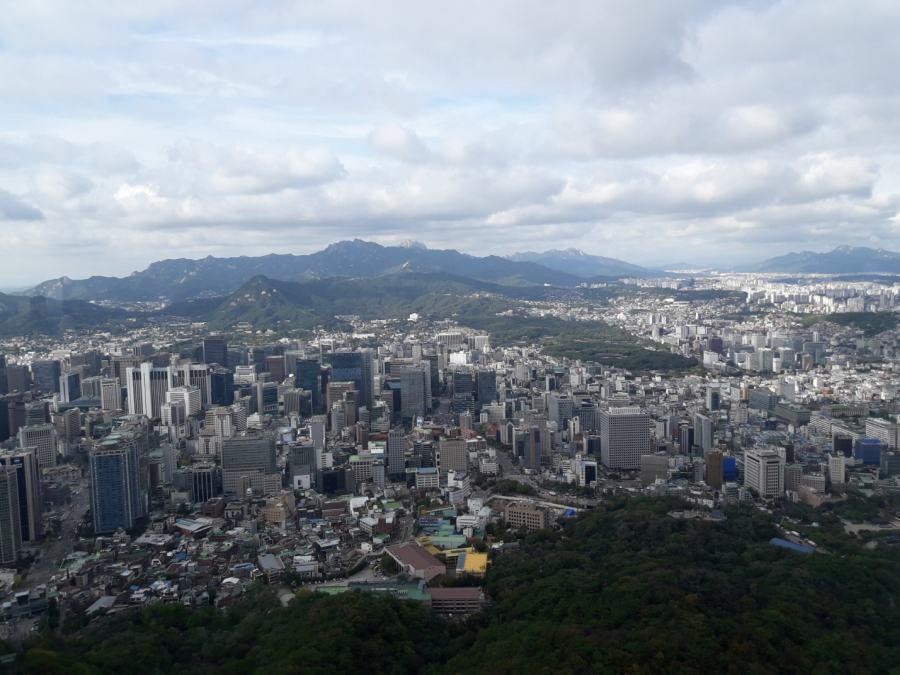 Сеул. Вид с телебашни