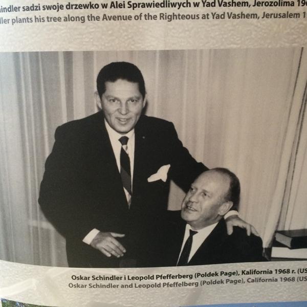 Встреча Оскара Шиндлера с Полдеком Пфеффербергом в 1968 году в Калифорнии