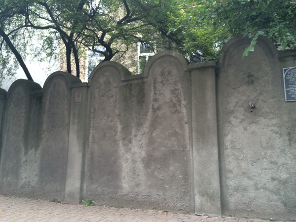 Оставшаяся часть стены Краковского гетто
