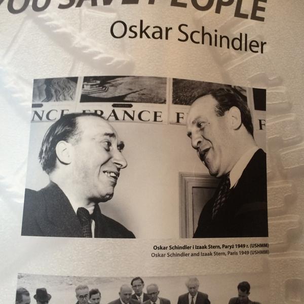 Встреча Оскара Шиндлера и Исаака Штерна в Париже в 1949 году