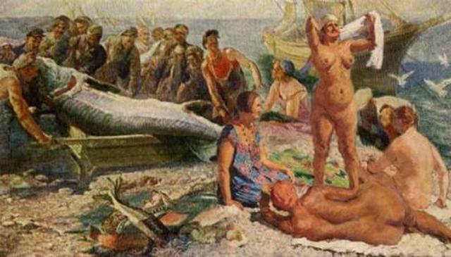 Жёны творческой интеллигенции Москвы в гостях у каспийских рыбаков