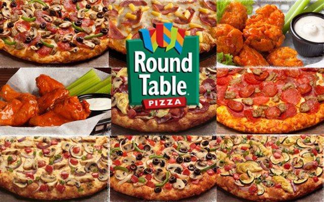 Round Table Pizza — рекламный плакат