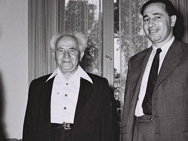 Бен Гурион и Шимон Перес