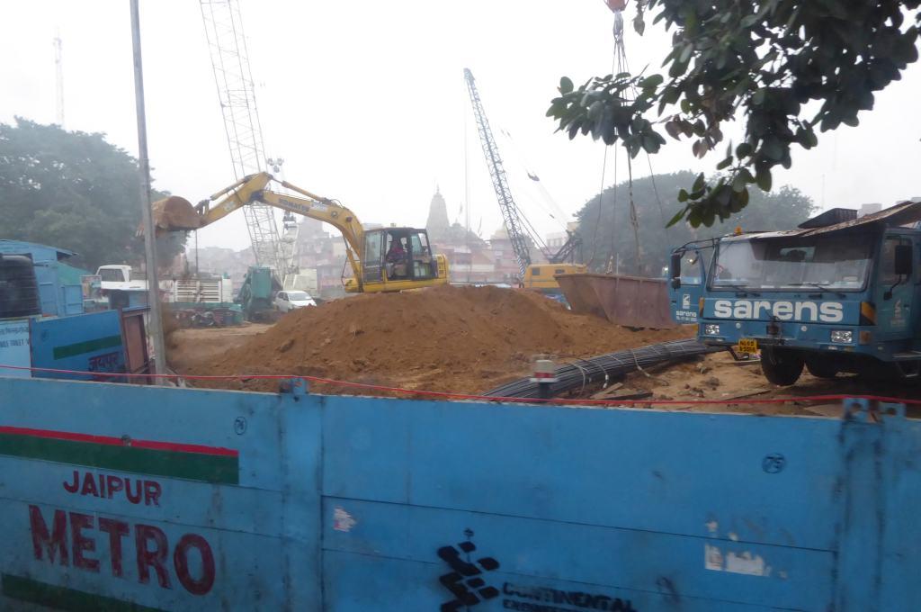 Строительство новой линии метро в Джайпуре