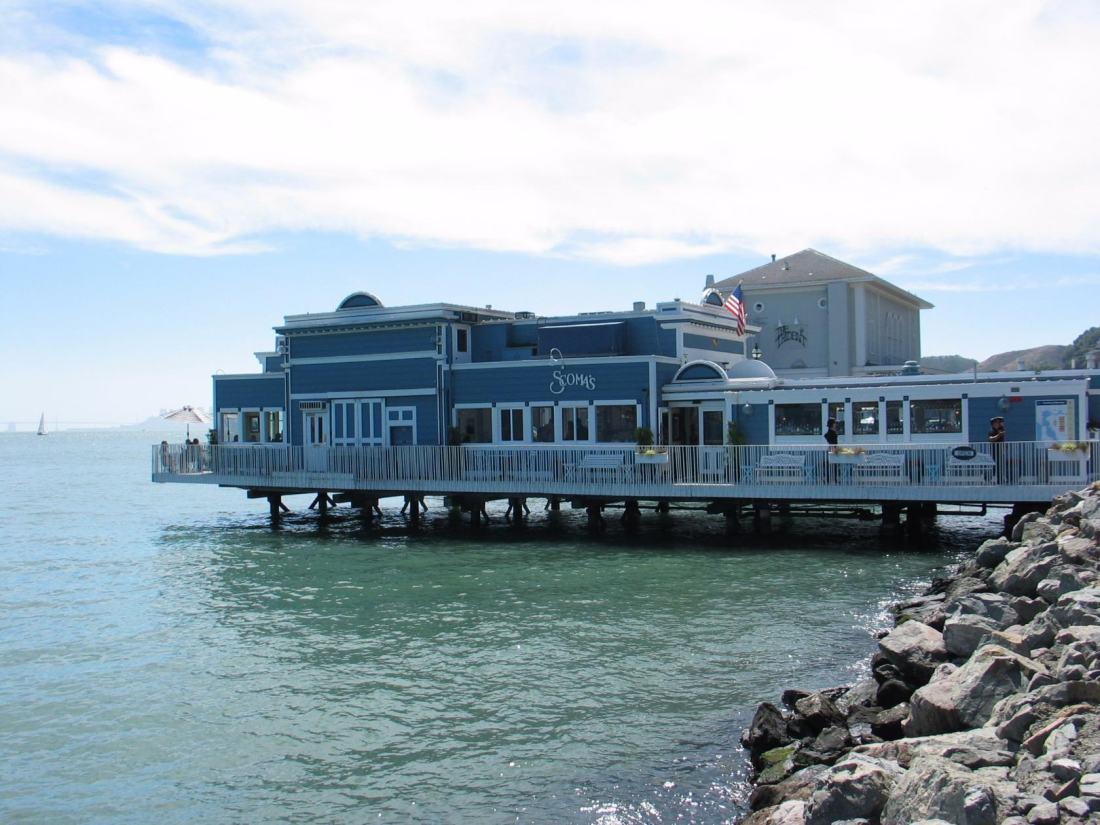 Sausalito. Ресторан на пирсе