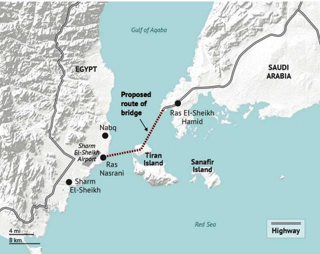 Трасса Саудовско-Египетского моста