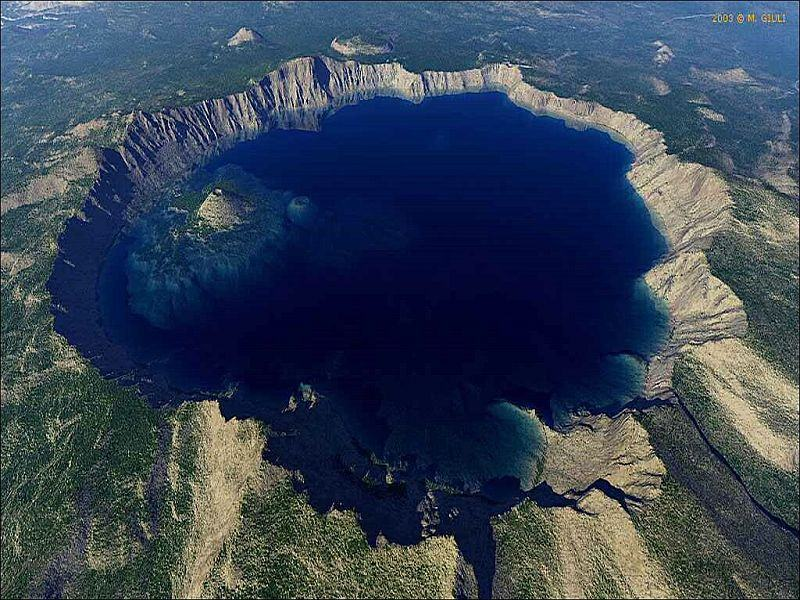 Crater Lake. Аэрофотосъемка