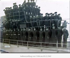 Ввод в эксплуатацию U 864 09.12.1943