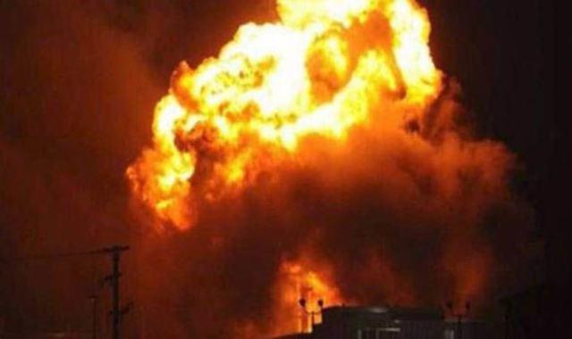 Взрыв на базе в районе Джебель-Ацзан