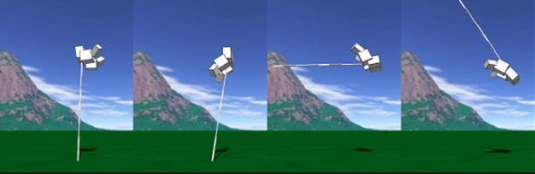 Использование потенциальной энергии для прыжков с шестом.