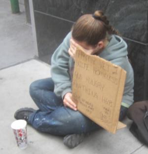88. Жена армейского ветерана. Бездомная и голодная.