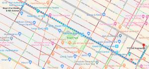 1. Карта ежедневного типичного маршрута