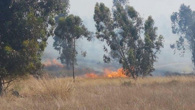 Пожар у кибуца Безри
