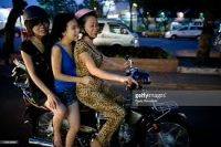 Семья на мотоцикле
