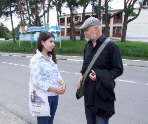 Анна Базаревич и Ежи Гарбинский в Браславе.