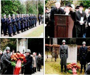 Президент еврейской Общины Мюнхена и В. Баварии, почётный доктор Шарлотте Кноблах выступает на траурной церемонии памяти солдат-евреев, погибших в Первой мировой войне.