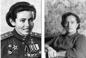 Боевые подруги. Полина Гельман (1924 — 2010), 46-й авиаполк, лётчица — еврейка — Герой Советского Союза. Анжелика (Алла) Ирлина, сержант ВВС 46-го авиаполка (1923 — 2017)