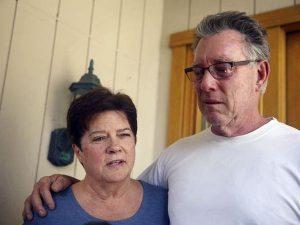 Родители Кэтрин Стенли на второй день после убийства дочери