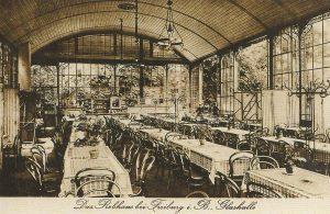 Стеклянный зал курортного отеля Ребхаус
